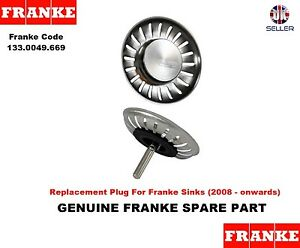 Franke Sink PLUG for Basket Strainer Waste (New Style, 2008 - onwards ...