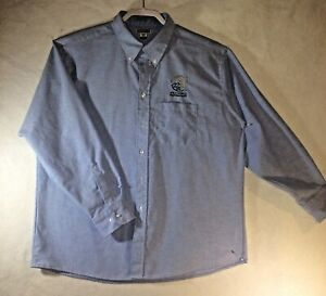 FEI-World-Equestrian-Games-Tryon-2018-Shirt-XL-35-Blue-Chambray-Long-Sleeve