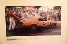 Ford Boss 302 ST.JOVITE Trans-Am.P Jones 1970 Gasing Up In Pits Car Poster!