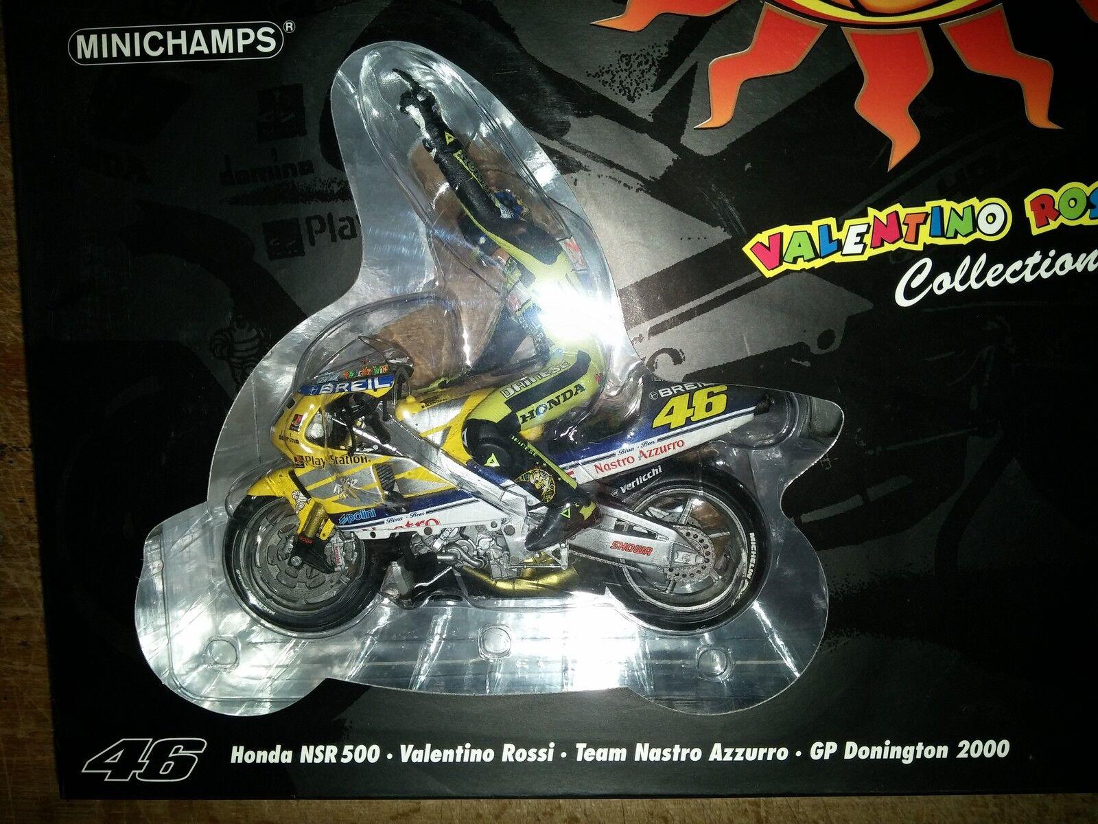 Minichamps 006196bx honda NSR500 modèle modèle modèle de moto rossi 1st gp win donington 2000 1 12 c6895c