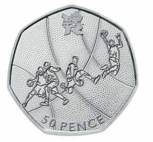 LONDON-SUMMER-OLYMPIC-2012-05-29-BASKETBALL-50P-COIN-2011-FIFTY-PENCE