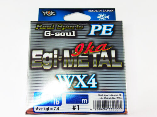 Real Sports G-SOUL PE EGI-IKA METAL WX4 180m #0.5 10lb YGK