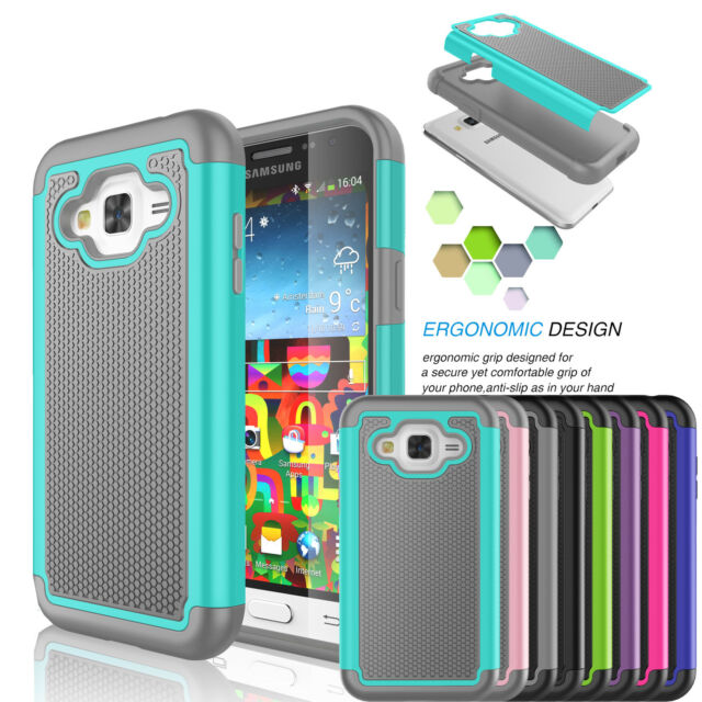 online store 18c8a 4445c For Samsung Galaxy J7 2015 Shockproof Hybrid Rubber PC Defender Hard Case  Cover