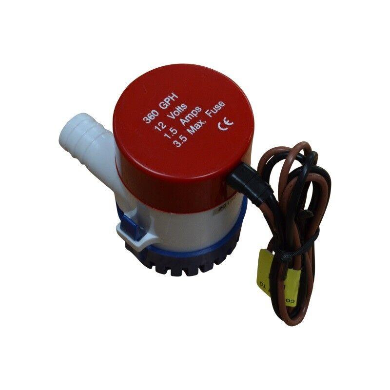 Bilge Pump, Electric Bilge Pump, 350 GPH, 12V, 19mm Discharge