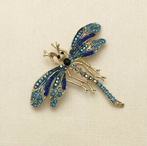Unique Dragonfly  brooch pin enamel