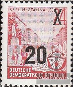 DDR-439b-Neuauflage-der-Offsetdruck-Urmarke-mit-Aufdruck-postfrisch-1954-Fuenfja