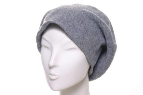 Kopka Stegbaske Wolle grau meliert Baskenmütze XL Volumen Baske Mütze Wollmütze