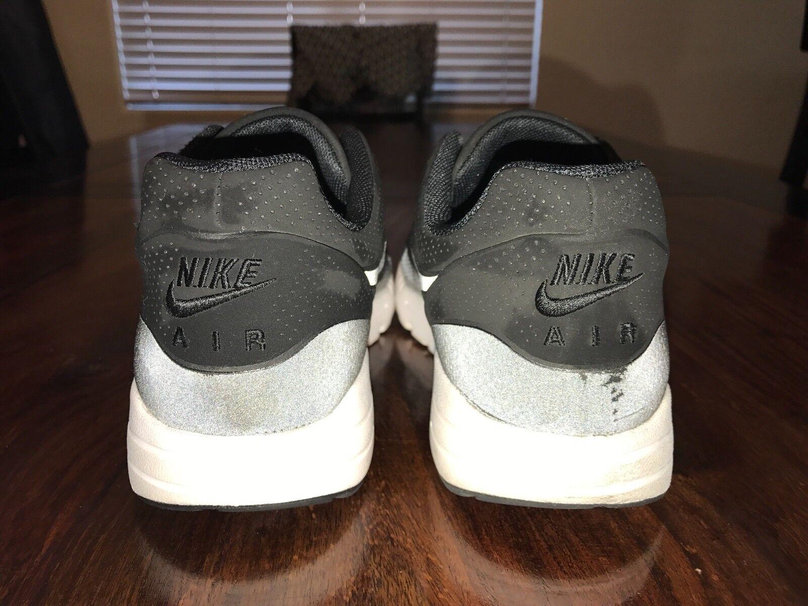Para mujer mujer mujer Nike Air Max 1 Ultra Moire Calzado para Correr Talla 8 Negro 704995-001 f6d39d