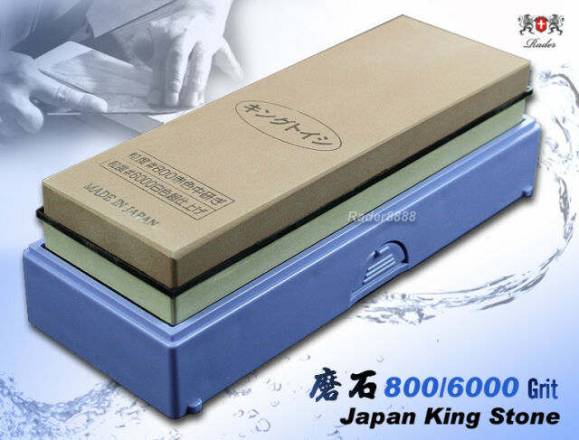 NEW Japanese Whetstone King 800/6000 Grit Combine Stone Sharpener Kitchenware