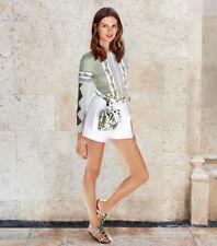 Tory Burch Sabrina Long Sleeve T Shirt XS Classic Cruise Pima Cotton 0 2
