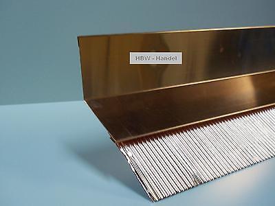 Brustblech 2m lang, Kupfer, Übergang Dachziegel, Wandanschluss Blech Dach