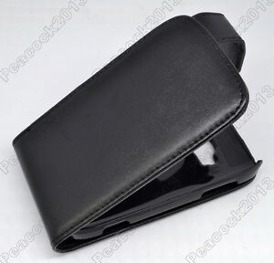 Black-Leather-Cover-Pouch-Flip-Case-For-Nokia-Lumia-710