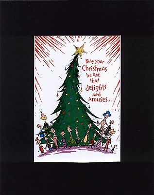 CINDY LOU WHO /& MR GRINCH~8 x 10  Mat Print ~WHOVILLE ~ Candy Cane~NEW