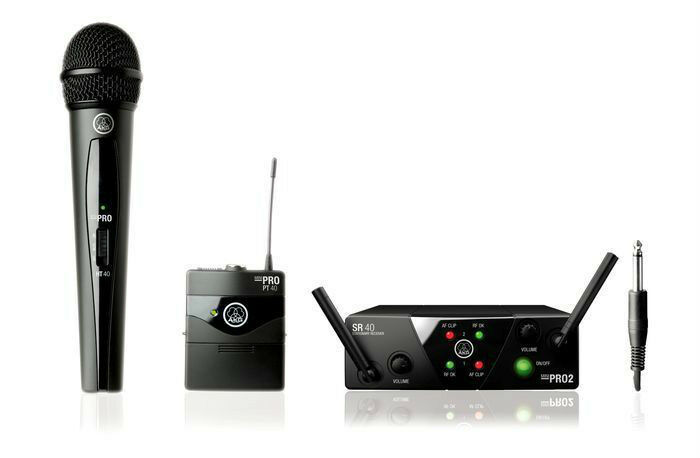 AKG WMS 40 Mini2 Dual Vocal   Instrument Wireless Set . U.S Authorized Dealer