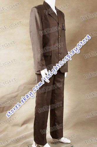 Who Purchase Doctor Cosplay Dr Costume Brown Strip Suit Men Uniform In Stock