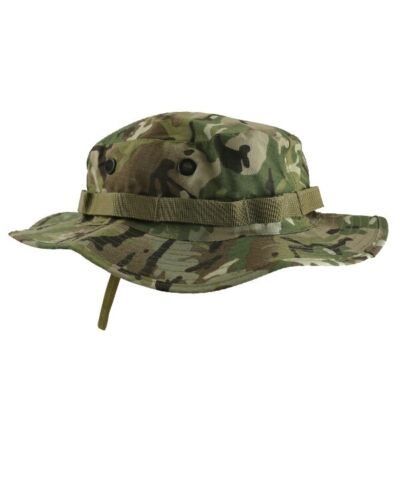 BTP MTP STYLE CAMO ARMY CADET STYLE WIDE BRIMMED BOONIE HAT SUN HAT AIRSOFT
