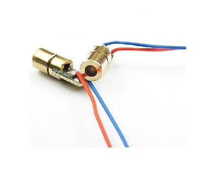 10Pcs 650nm 6mm 3V 5mW Mini Laser Dot Diode Module Head WL Red
