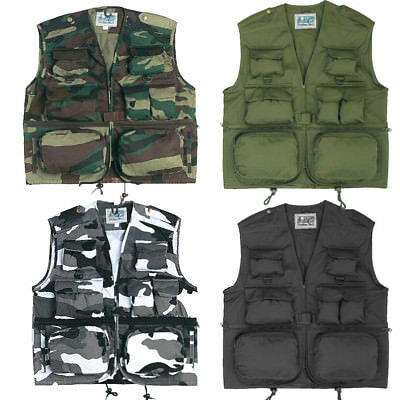 Waistcoat Outdoor Summer Fishing Vest Multi Pocket Photographers Shooting Gilet