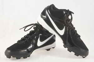 sports shoes 90a6a 5c441 Image is loading Boys-Nike-MVP-Keystone-Mid-Baseball-Cleats-Used-
