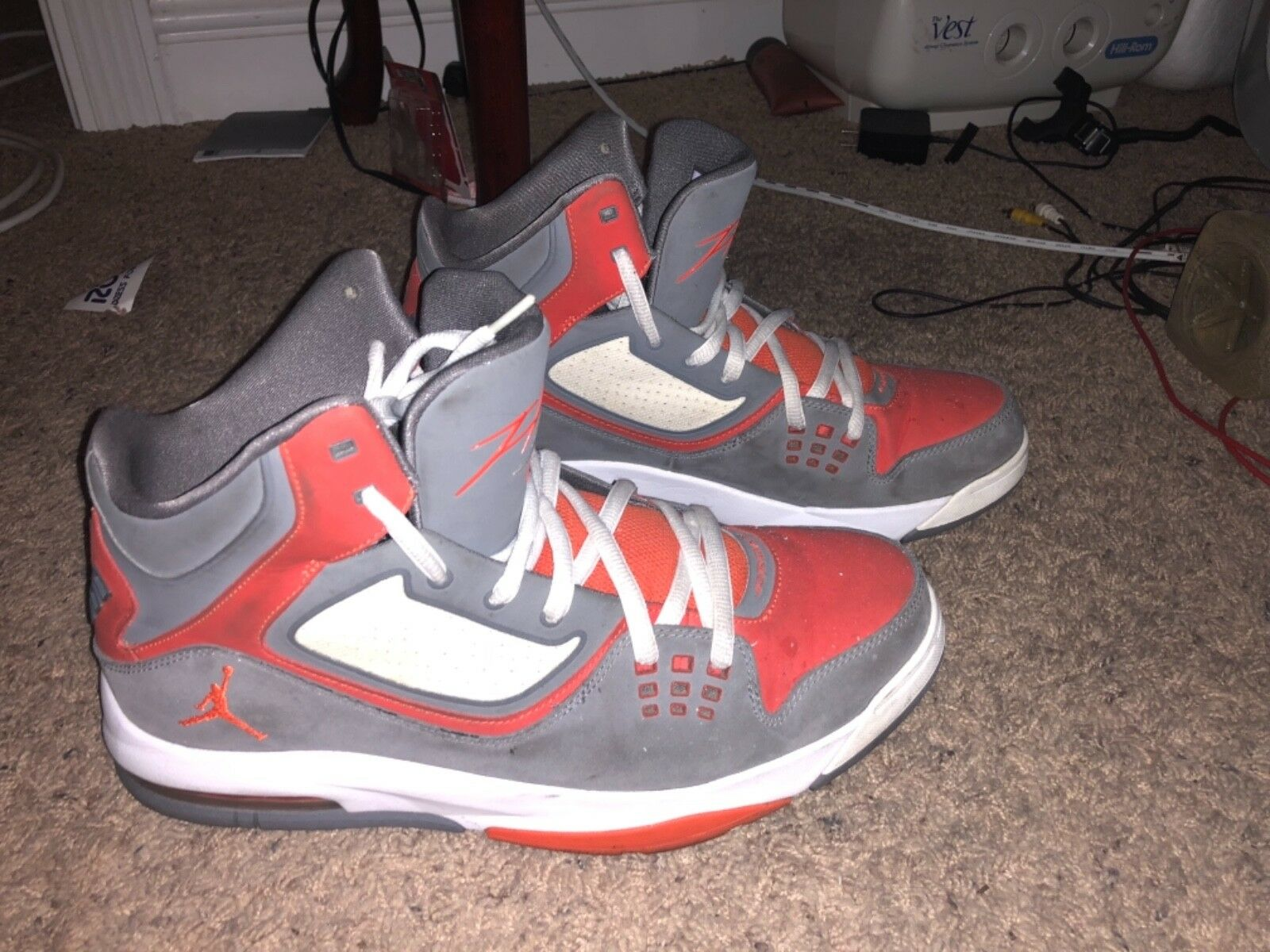 Jordan's Men's Black shoes Size & Orange Size 11.5