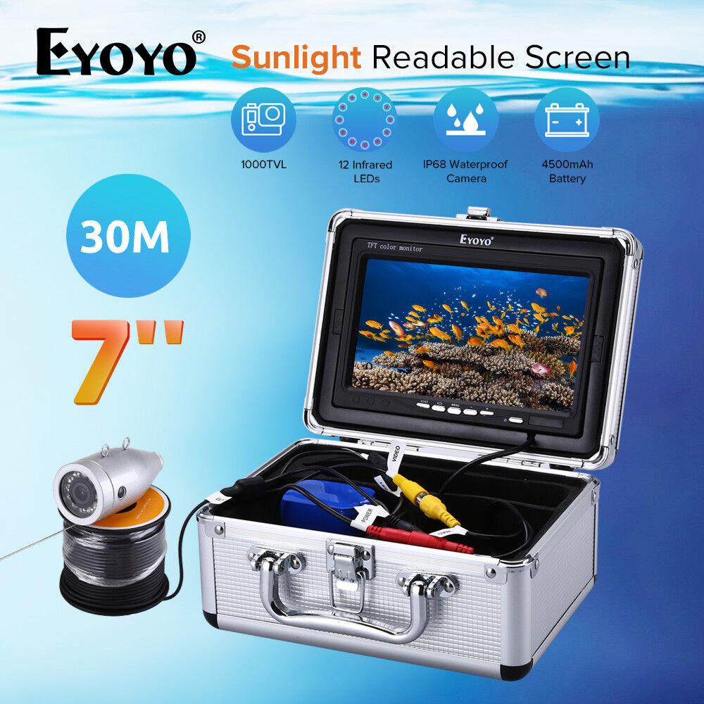 Pesca subacquea fotocamera 7 luce solare leggibile schermo 12Pcs IR Fishfinder