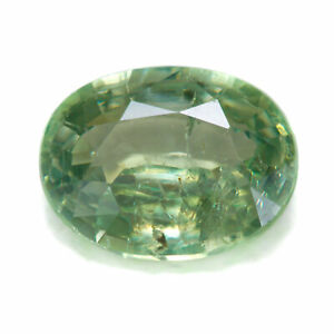 Demantoid Garnet 0.65ct. Oval cut, with good clarity for this type of gemstone