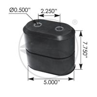 International Load Spring Pad Rubber Bumper Snubber Bump Stop
