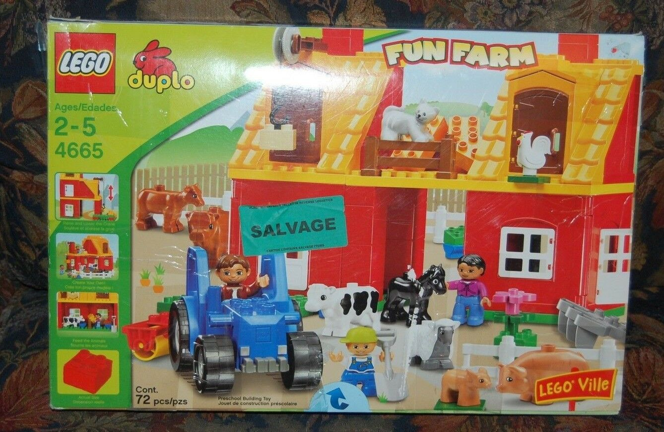 Lego 4665 Duplo - FUN FARM w  Lots of Animals - Items are NEW, but NOT COMPLETE