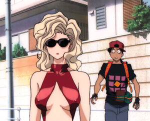 Golden Boy Anime Cel Douga Animation Art Kintaro Meets Madame Prez Lesson 1