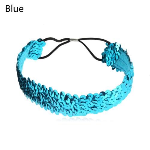 stirnband glitter haarband pailletten mädchen elastische glänzend