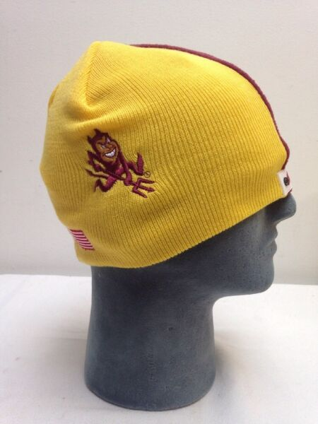 ce8241a6bcb Arizona State Football Helmet Beanie Hat Skin College Winter Hat Skull Cap  NCAA
