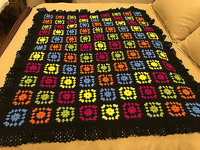 Handmade Afghan Throw / Blanket - From Designer Collection