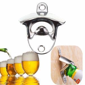 Wall-Mount-Bar-Wine-Beer-Soda-Glass-Cap-Bottle-Stainless-Steel-Opener-Open-Tool