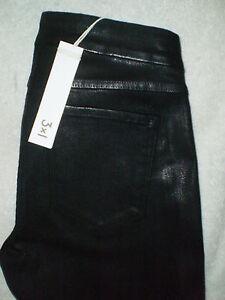Black Ny Rise 3x1 Coated Biker 245 27 Stretch Low 26 Skinny Pants Kvinders Størrelse S77TXq6c
