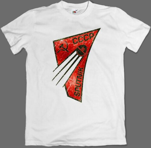 5XL Sputnik USSR SPACE Soviet Earth Satellite CCCP T-Shirt S