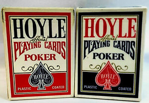 Hoyle Playing Cards 2 Full Decks 1 Blue/ 1 Red Poker Playing Cards Gamble