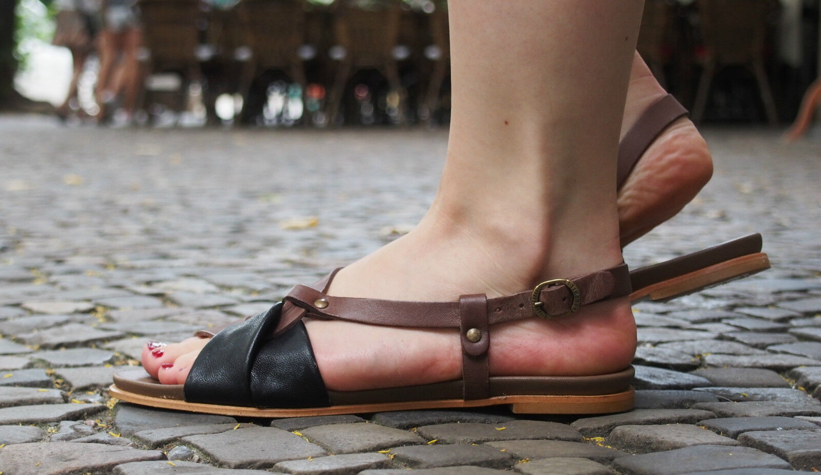 LILIMILL Schuhe 5581 DXNR dixan schwarz schwarz Echtleder Sandaletten NEU Sandalen