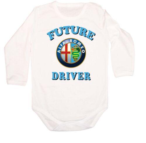 LANGARM FUTURE ALFA ROMEO Driver LOGO FUN CAR KURZARM BABY BODY BODYSUIT