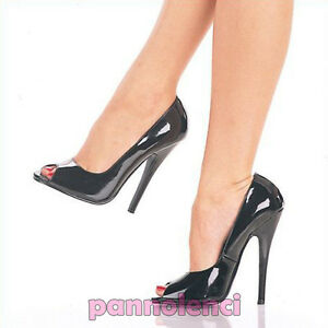 Court-Shoes-Peep-Toe-Pleaser-High-Heel-15-Black-Dom212-35