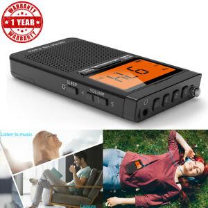 Emergency Pocket Radio NOAA AM/FM Weather Compact Portable Auto-Search Speaker