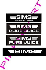 Sims skateboard sticker Lamar deck 4 decals decal sim