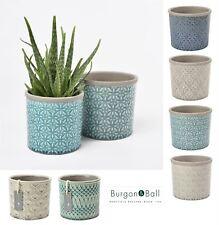Burgon & Ball Tuscany Porto Venetain, Morrocan Ceramic Glazed Plant Flower Pot
