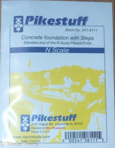 N Scale Plastic Parts Pikestuff #541-8111 Concrete Foundation w//Steps