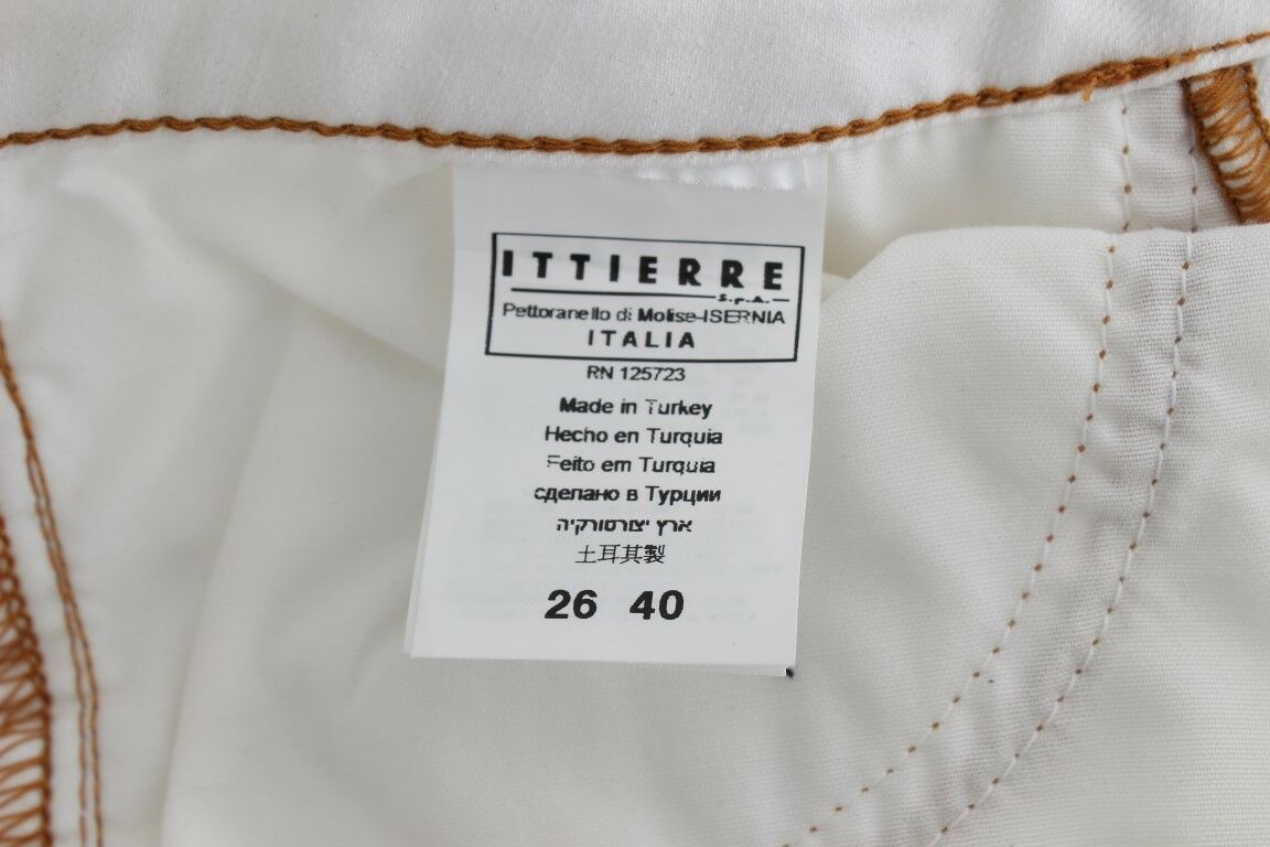 Nuovo Just Cavalli Pantaloni Jeans Bianco Misto Cotone Slim Slim Slim Vita Alta S.W26 470b4b