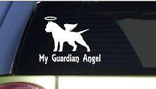 "My Guardian Angel pitbull *I162* 6"" Sticker decal pit bull american bully"