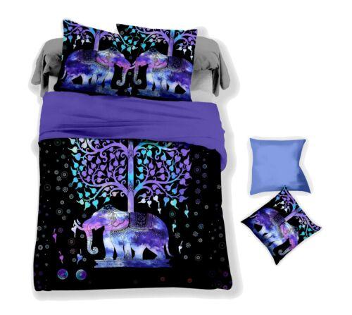 3D Black Elephant Tree Quilt Cover Set Bedding Duvet Cover Single//Queen//King 30