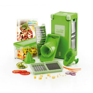 Genius Nicer Dicer Magic Cube  Grün   12 Teile   Obst- und Gemüseschneider   NEU