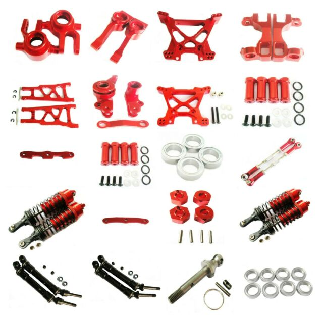 Traxxas X-Maxx 4X4 Upgrade Parts Aluminum Front Suspension Holder 1Pc Set Red