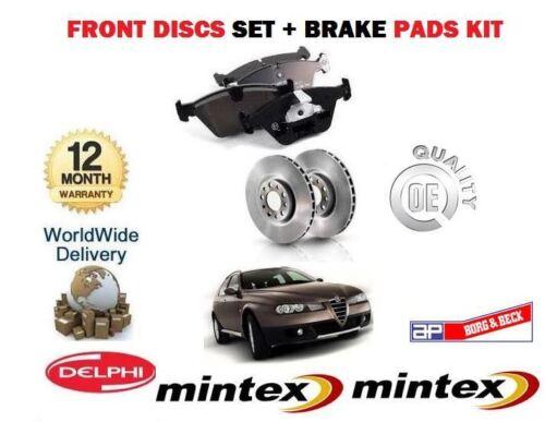FOR ALFA ROMEO 156 1.8 2000-2006 NEW FRONT BRAKE DISCS SET DISC PADS KIT