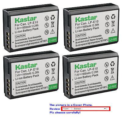 Cámara Digital ex-Pr Batería LP-E10 LPE10 para Canon EOS Rebel T3 T5 Kiss X50